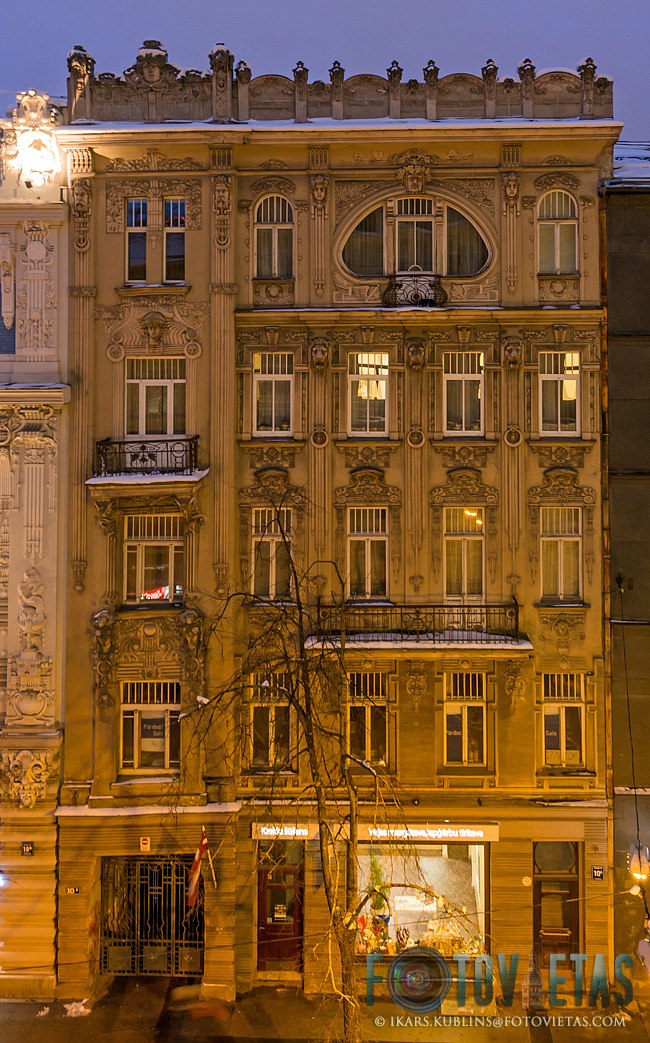 Art nouveau building in Elizabetes street 10a