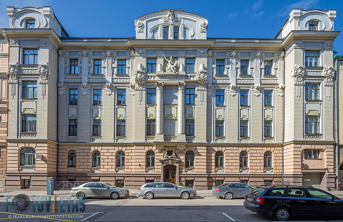 Art nouveau building in Rūpniecības iela 1