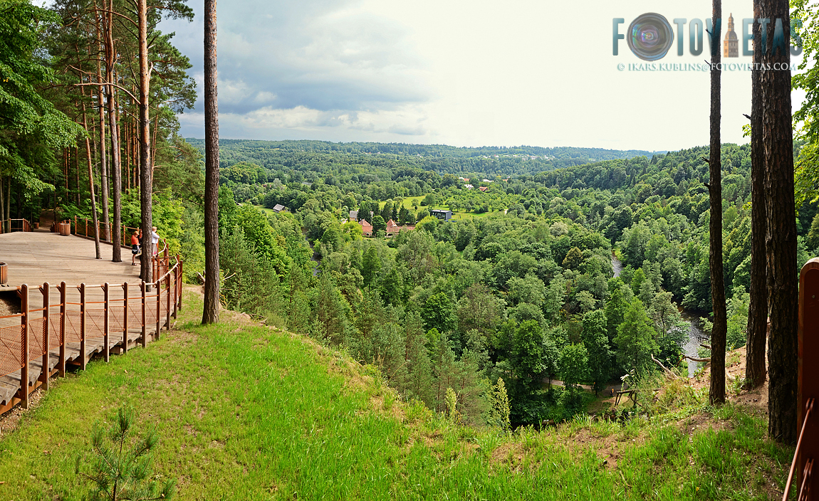 Panoramic view from Pūčkoriu outcrop in Vilnius