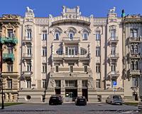 Alberta street 4 art nouveau building in Riga front facade