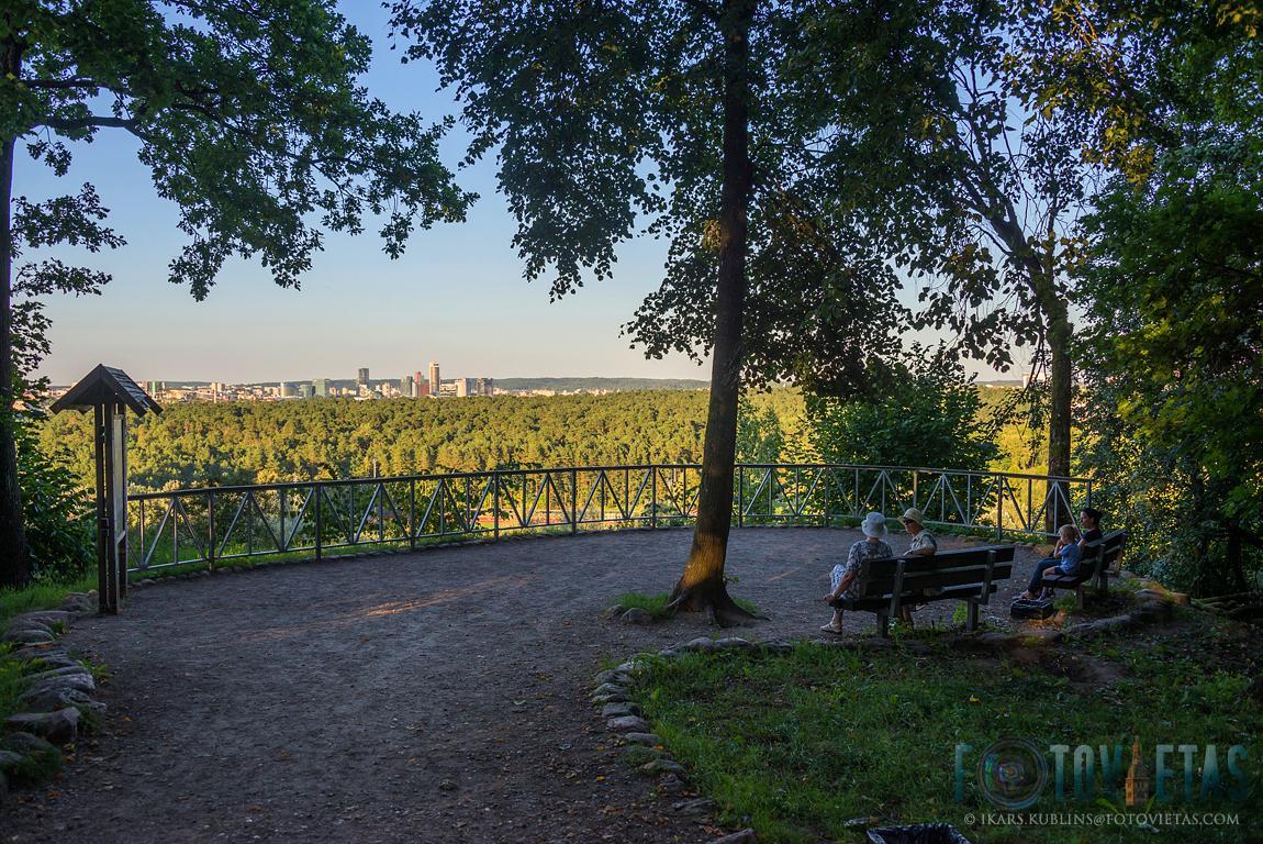 View from Karoliniškes outcrop over Vingis park to Vilnius central highrise district