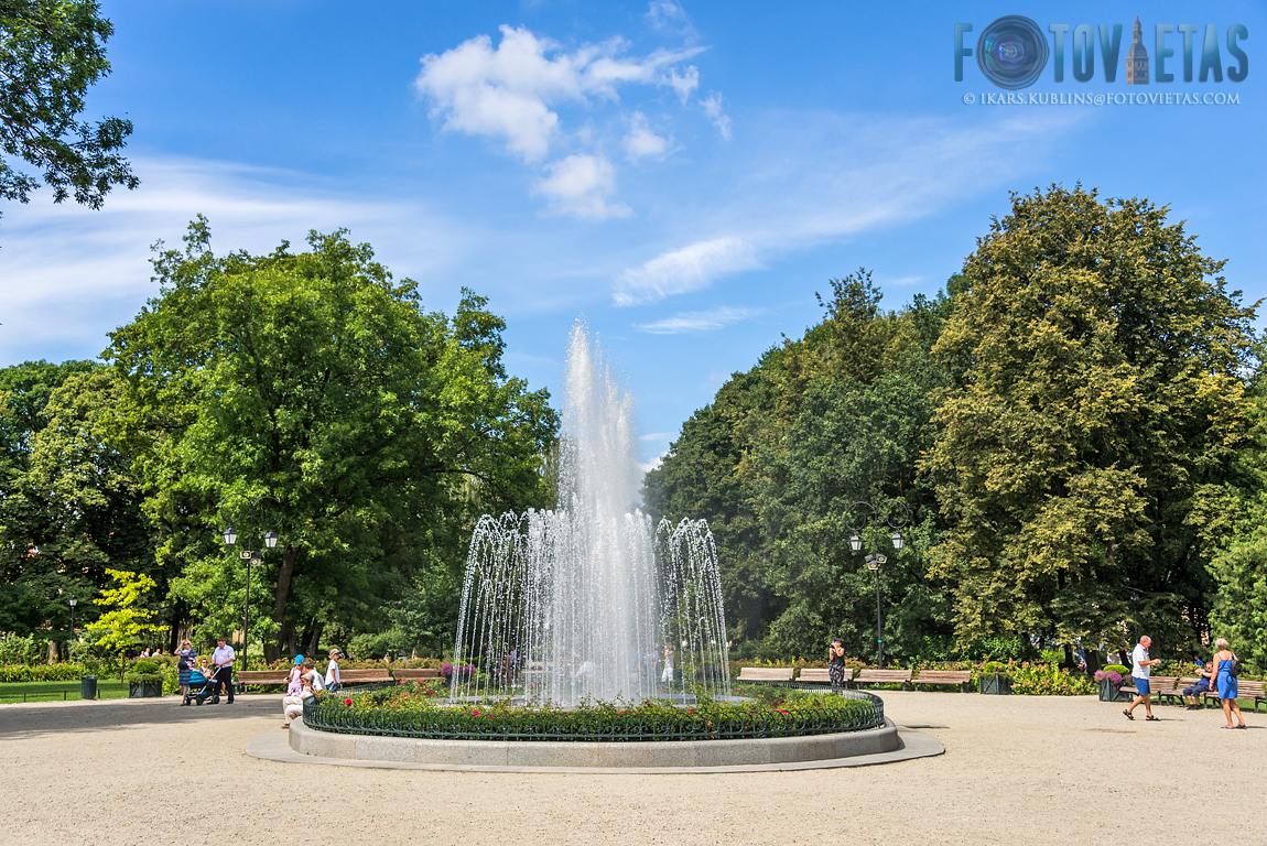 musical fountain in Bernardine garden, Vilnius