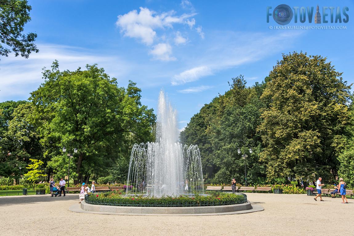 musical fountain in Bernardine garden, Vilnius