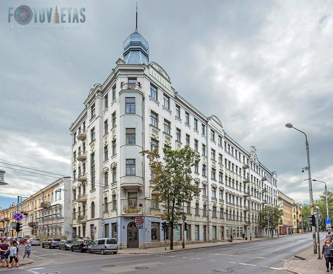 Art Nouveau building in Vilnius New Town