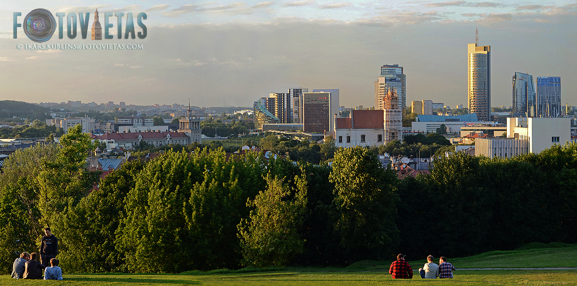 view from Tauras hill with Vilnius skyline